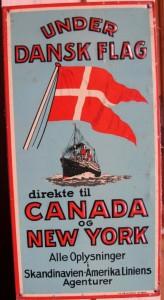 Dørskilt i blik Under danske Flag