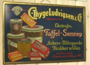 Thyge Ludvigsen & Co. blikskilt fra ca. 1930