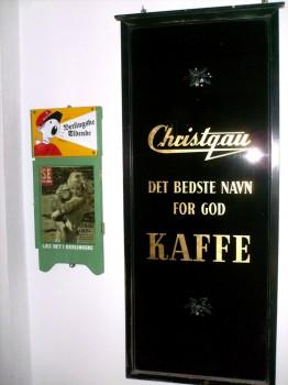Christgau - det bedste navn for god KAFFE- glasskilt
