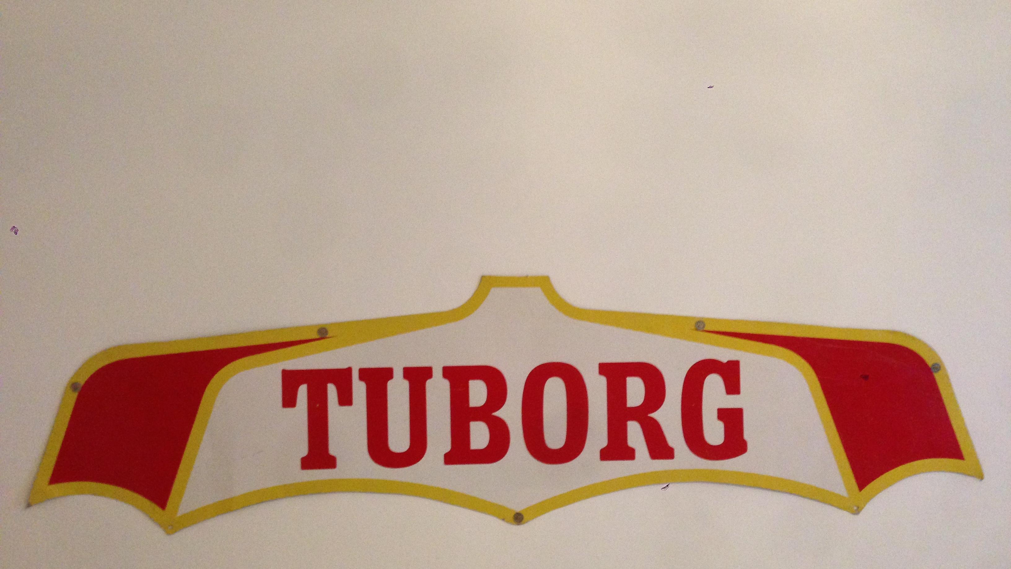 nok Tuborg skilt i flot stand « Gamleskilte.dk IM42